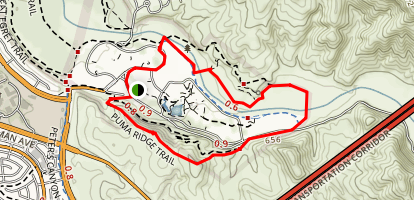 Irvine Regional Park Trail Map