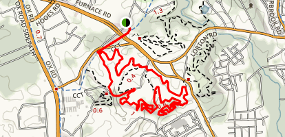 Laurel Hill Park MTB Trail Map