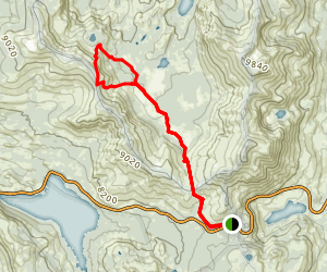 Upper Truckee River and Meiss Lake Trail Map