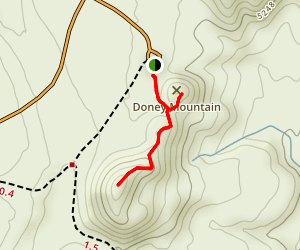 Doney Mountain Trail Map