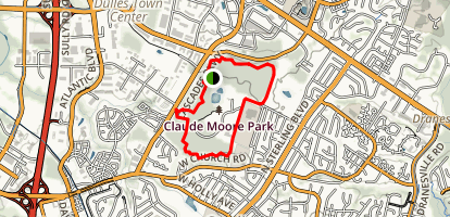Claude Moore Trail Map