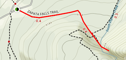 Zapata Falls Trail Map