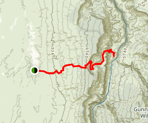 Gunnison Gorge via Ute trail Map