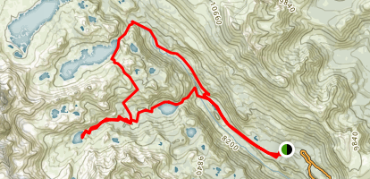 Ediza Lake Loop Trail Map