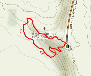 Big Hill Springs Trail Map