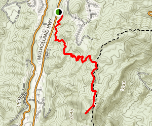 Calabasas Cold Creek Trail Map