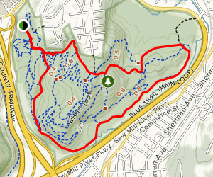 Graham Hills Blue Trail Map