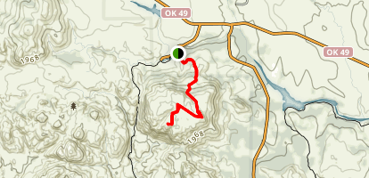Elk Mountain and Ridge Bushwhack Trail Map