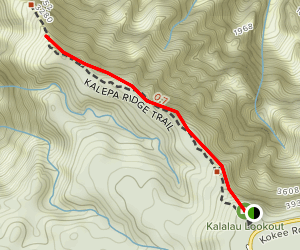 Kalepa Ridge Trail Map