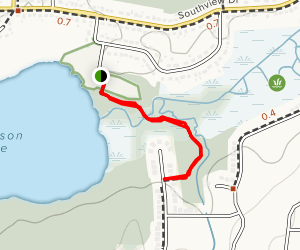 Robinson Lake Trail Map