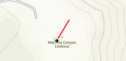 Waimea Canyon Lookout Map