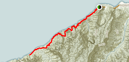 Na Pali Coast (Kalalau) Trail Map