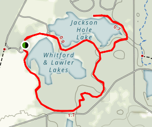Jackson Hole, Whitford, and Lawler Lakes Loop Map