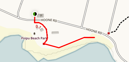 Brennecke Beach Trail Map