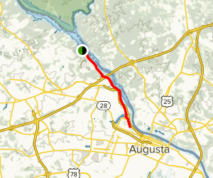Augusta Canal Trail Map