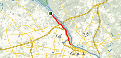 Map Of Augusta Georgia And Surrounding Area.Augusta Canal Trail Georgia Alltrails