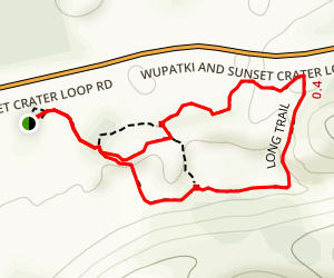 Lava Flow Trail Map