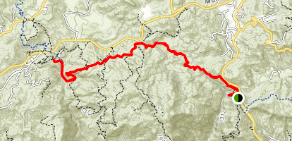 Backbone Trail Through Zuma Canyon Map
