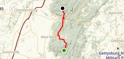 Appalachian Trail: Old Forge Picnic Grounds to Caledonia State Park Map