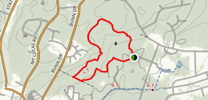 Herrontown Woods Trails Map