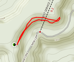 Owens Mountain Bluffs Trail Map