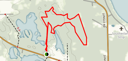 Lake Proctor Wilderness Loop Trail Map