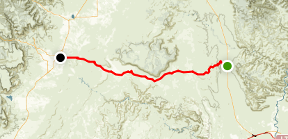 Green River Cutoff Trail Map
