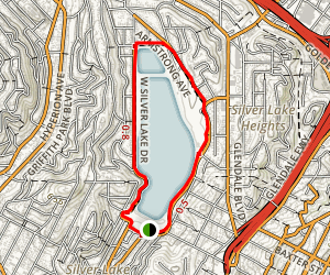 Silver Lake Reservoir Trail Map