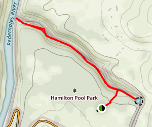 Hamilton Pool Park Trail Map