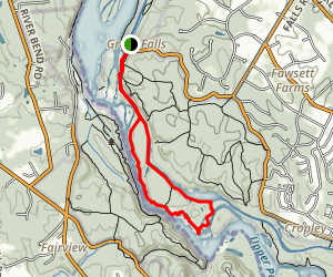 Great Falls Overlook Trail Map