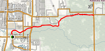 Cullen Park Hike and Bike Trail Map