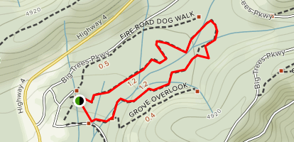 Calaveras North Grove Trail Map