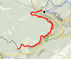 Superior Hiking Trail Section from Haines Rd Map