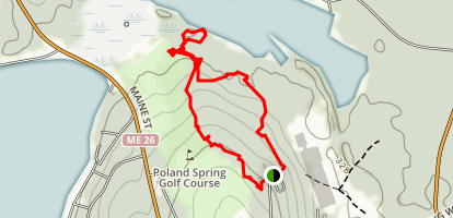 Poland Spring Hiking Trails Map