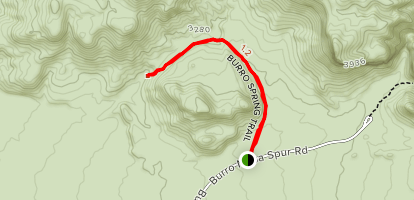 Burro Spring Trail Map