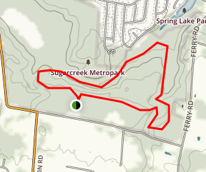 Three Sisters to Sycamore Ridge Loop Map