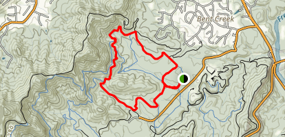 Bent Creek Network: Rice Pinnacle - Ledford Loop Map
