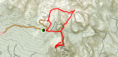 Panther Meadows, Southgate Meadows and Gray Butte Map