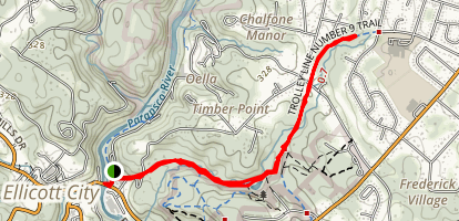 Number Nine Trolley Trail Map
