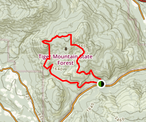 Middle Tiger Trail Map