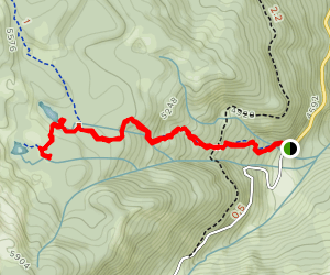 Clara and Marion Lakes Trail Map