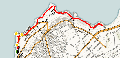 La Jolla Beach Trail Map