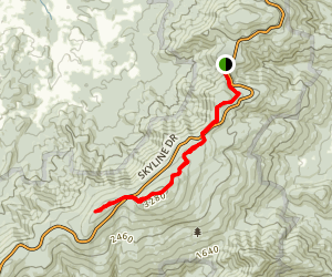 Mount Marshall via the Appalacian Trail  Map