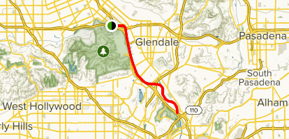 Los Angeles River: West Bank Trail Map
