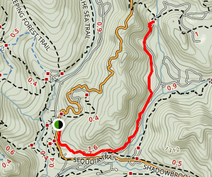Sempervirens Falls Trail Map
