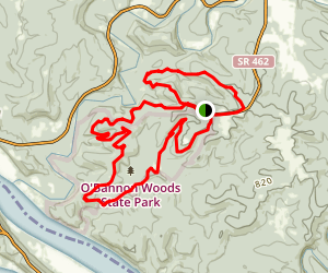 O'Bannon Woods Trail Map