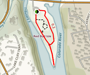 Red Bud Isle Trail Map
