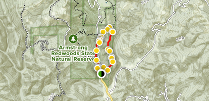 Armstrong Nature Trail Map