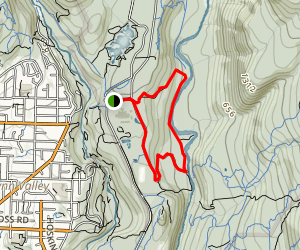 Two-Canyon Loop Map