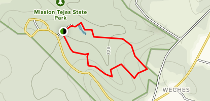 Mission Tejas State Park Trail Map